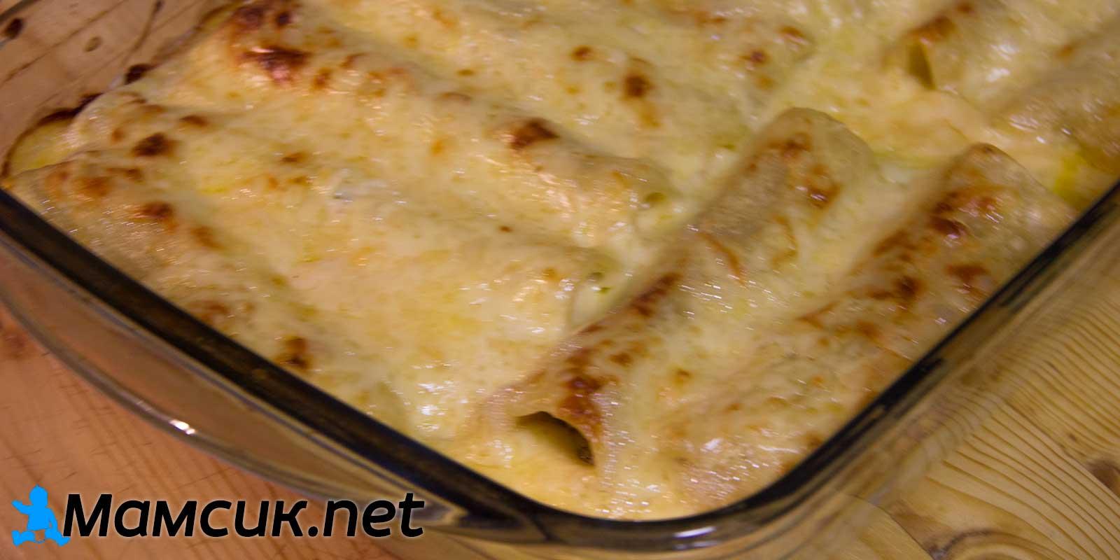 Каннеллони с фаршем рецепт пошагово с соусом